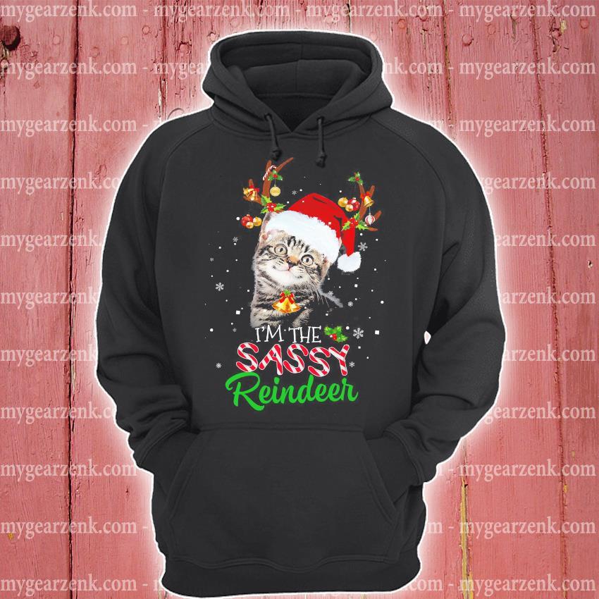 Cat I'm the sassy Reindeer Christmas sweater hoodie