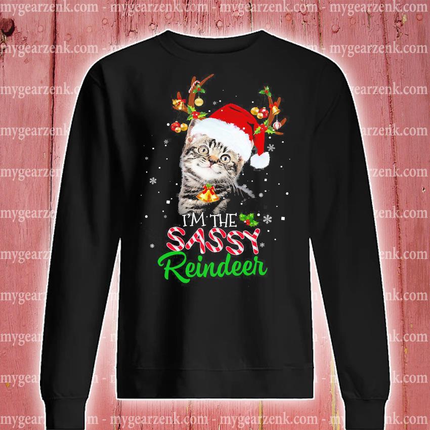 Cat I'm the sassy Reindeer Christmas sweater sweatshirt