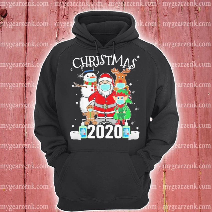 Christmas santa claus and friends wearing mask 2020 s hoodie