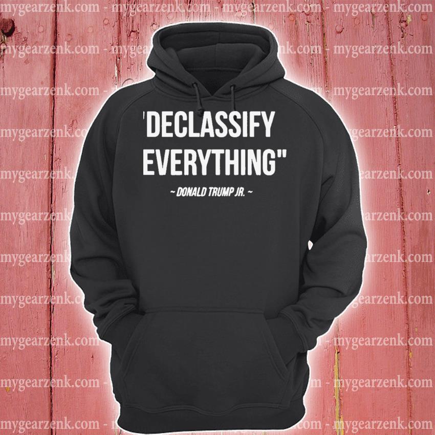 Declassify everything donald trump jr 11-9-20 s hoodie