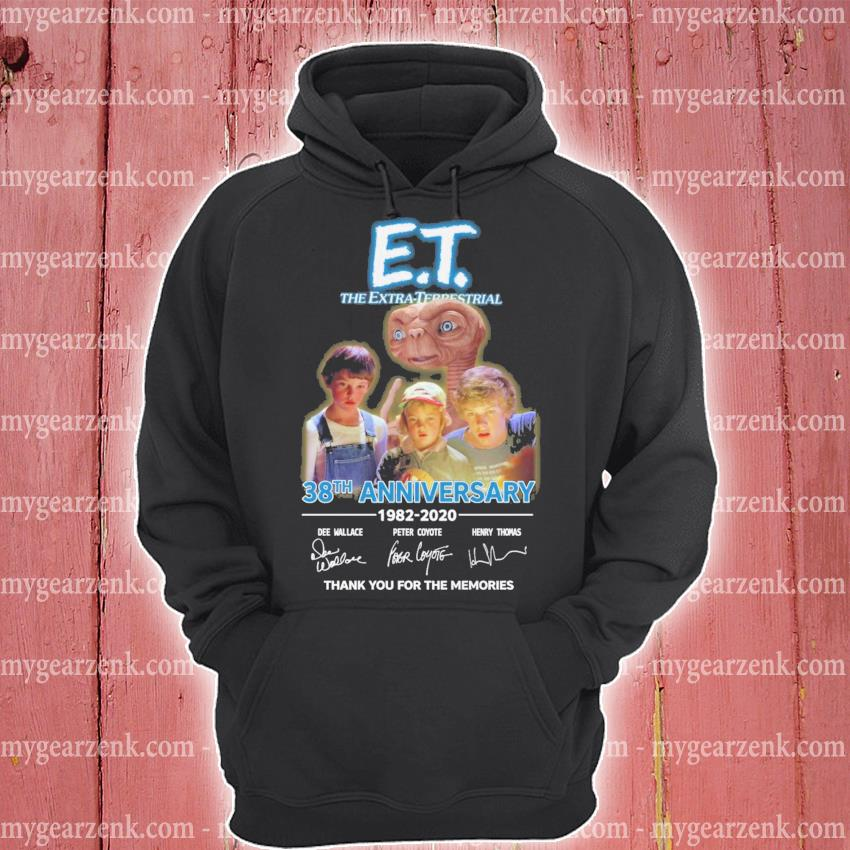 ET The Extra Terrestrial 38th anniversary signatures thank you for the memories s hoodie