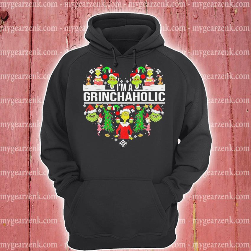Grinch I'm a Grinch Aholic heart Christmas 2020 s hoodie