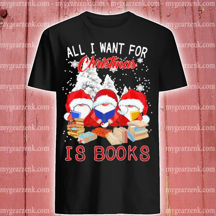 Owl Santa all I want for Christmas Is Books shirt