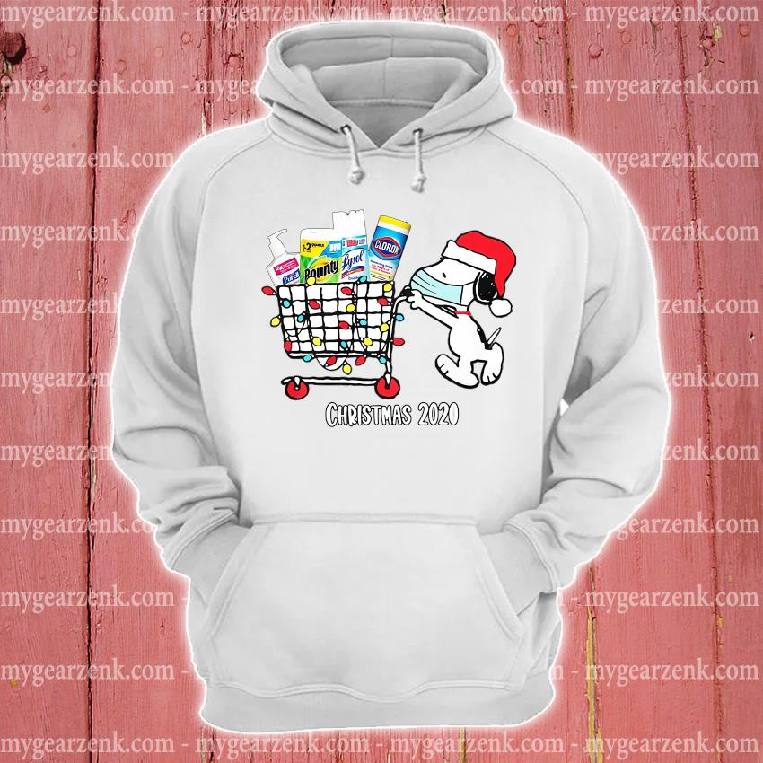 Santa Snoopy face mask Christmas sweater hoodie