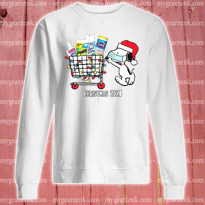 Santa Snoopy face mask Christmas sweater sweatshirt