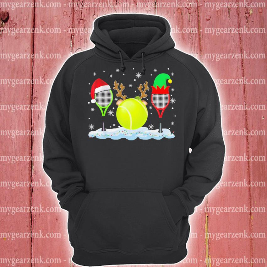 Tennis hat Santa happy merry Christmas 2020 s hoodie