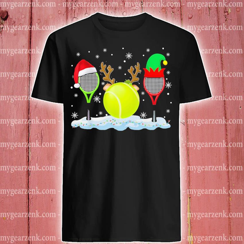 Tennis hat Santa happy merry Christmas 2020 shirt