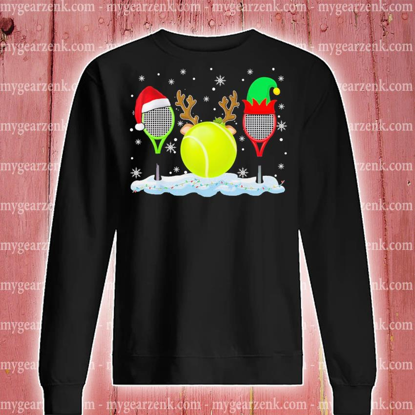 Tennis hat Santa happy merry Christmas 2020 s sweatshirt