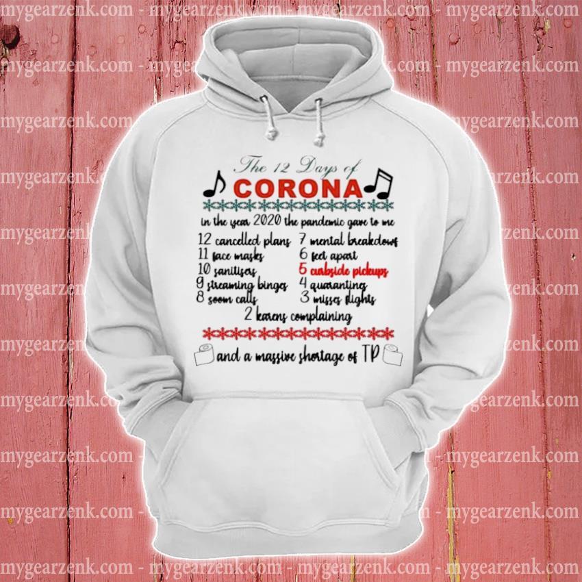 The 12 days of corona Christmas sweater hoodie