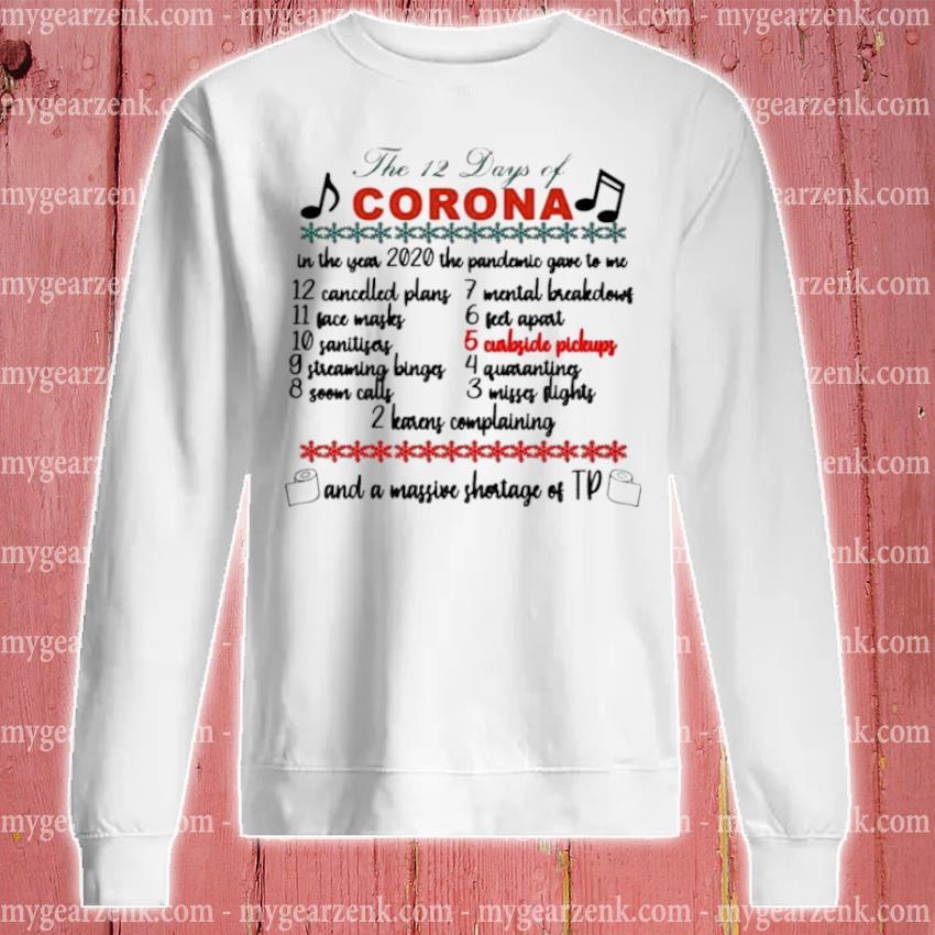 The 12 days of corona Christmas sweater sweatshirt