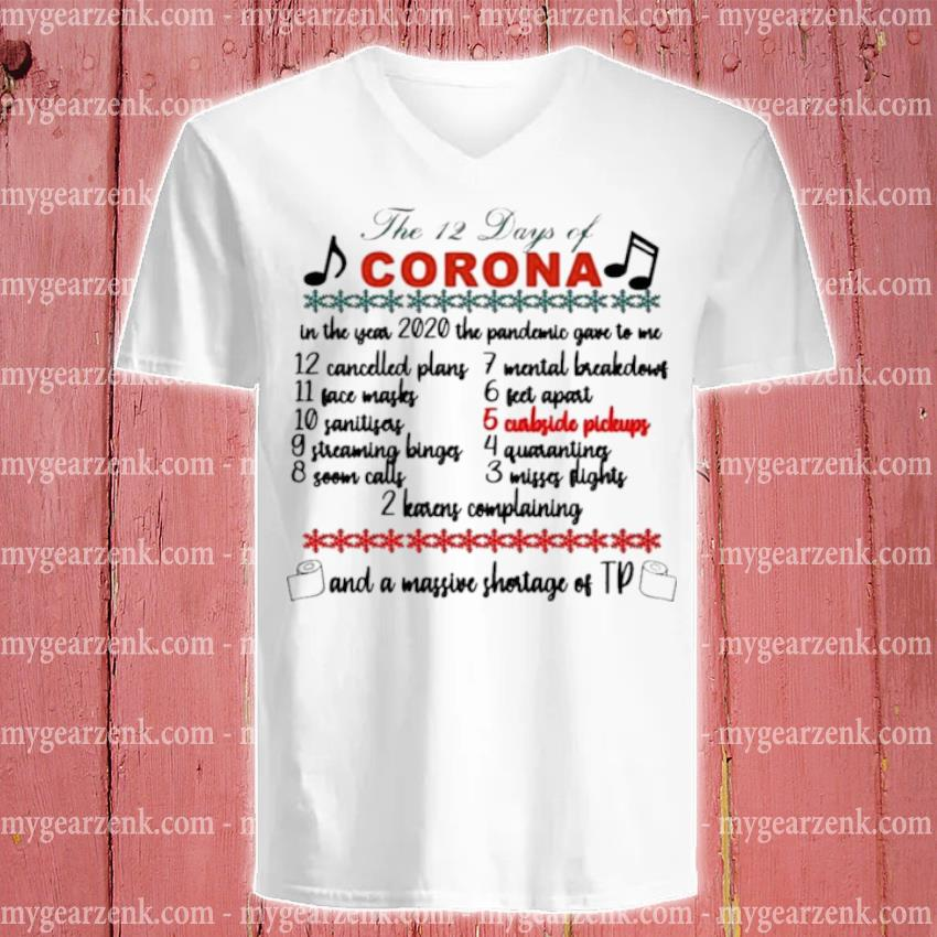 The 12 days of corona Christmas sweater v-neck-tee